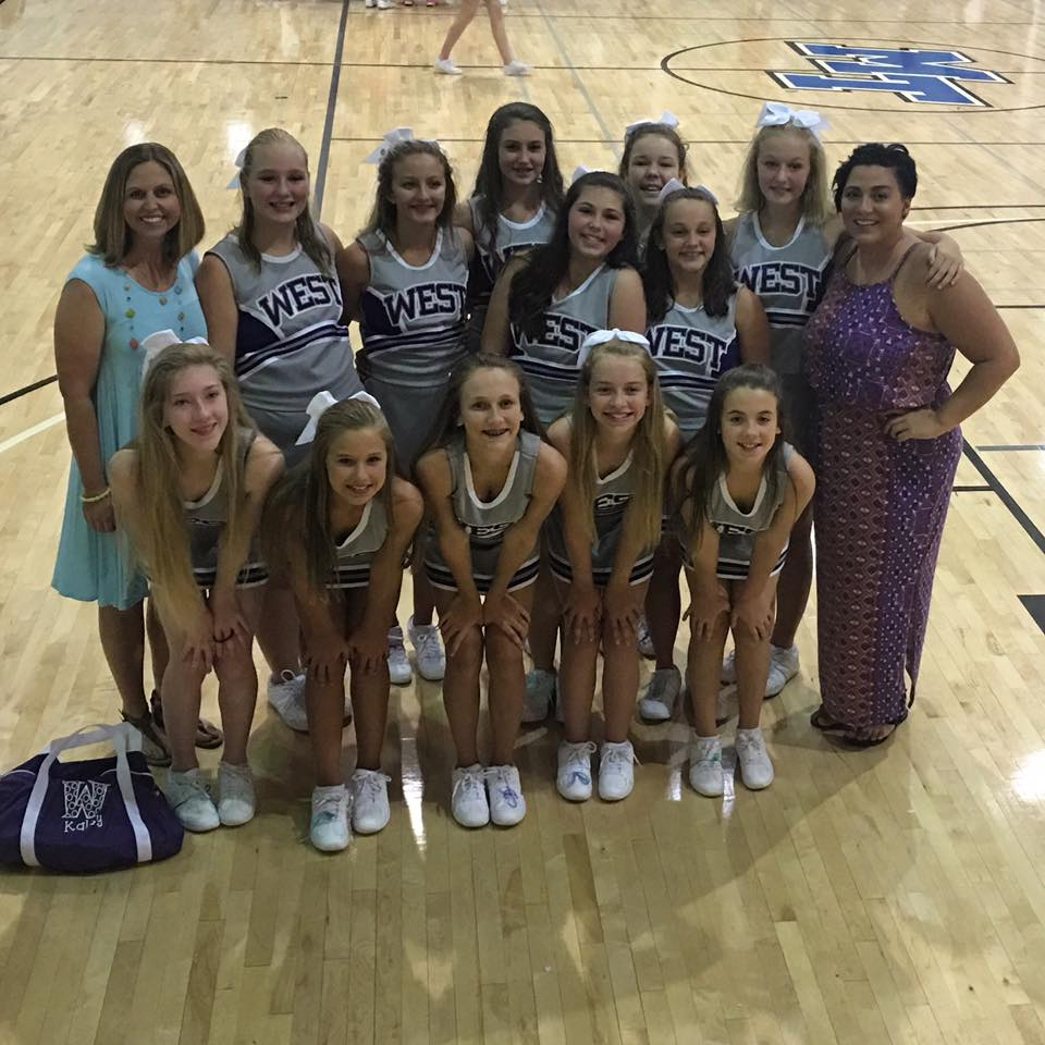 PWMS Cheerleaders 2017-18