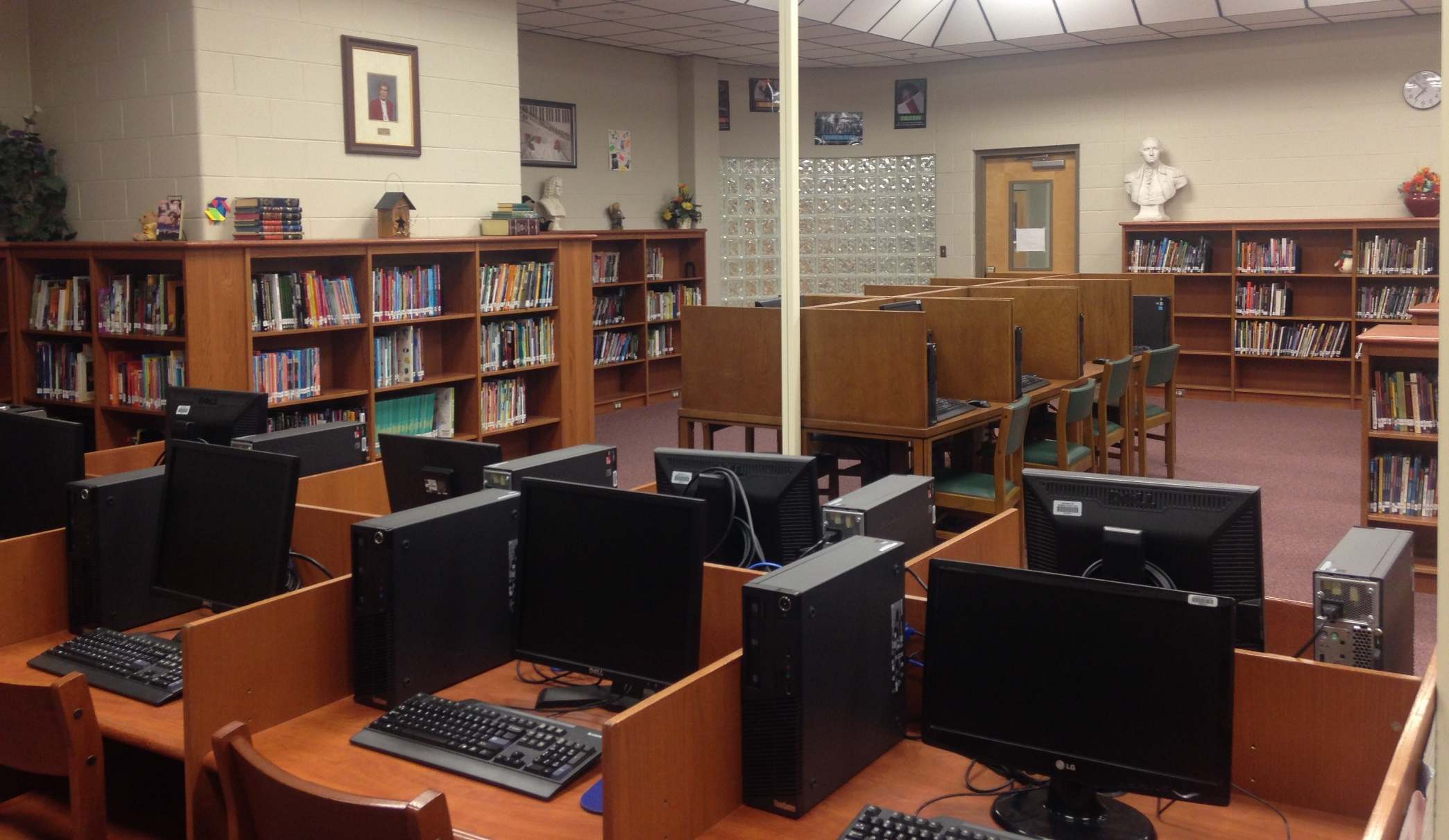 Portland West Middle School Library